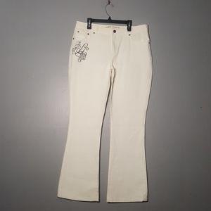 Vintage Ralph Lauren mom Jeans curvy white flare